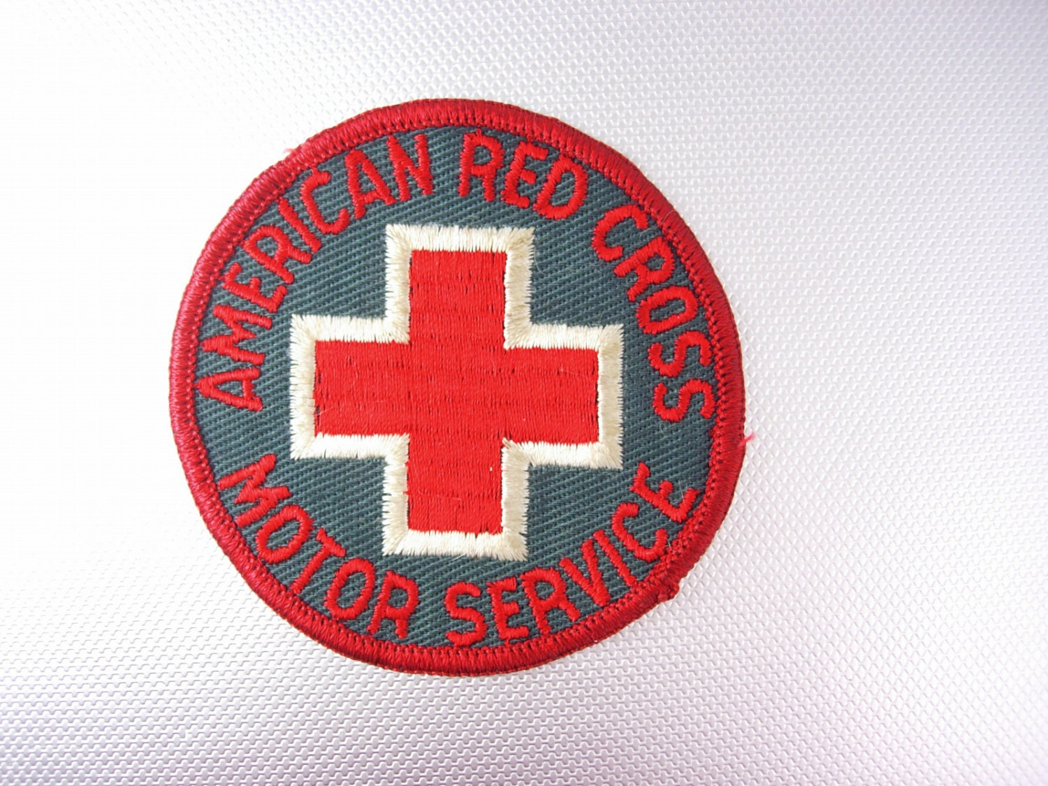American Red Cross Motor Service Patch Vintage Birthday
