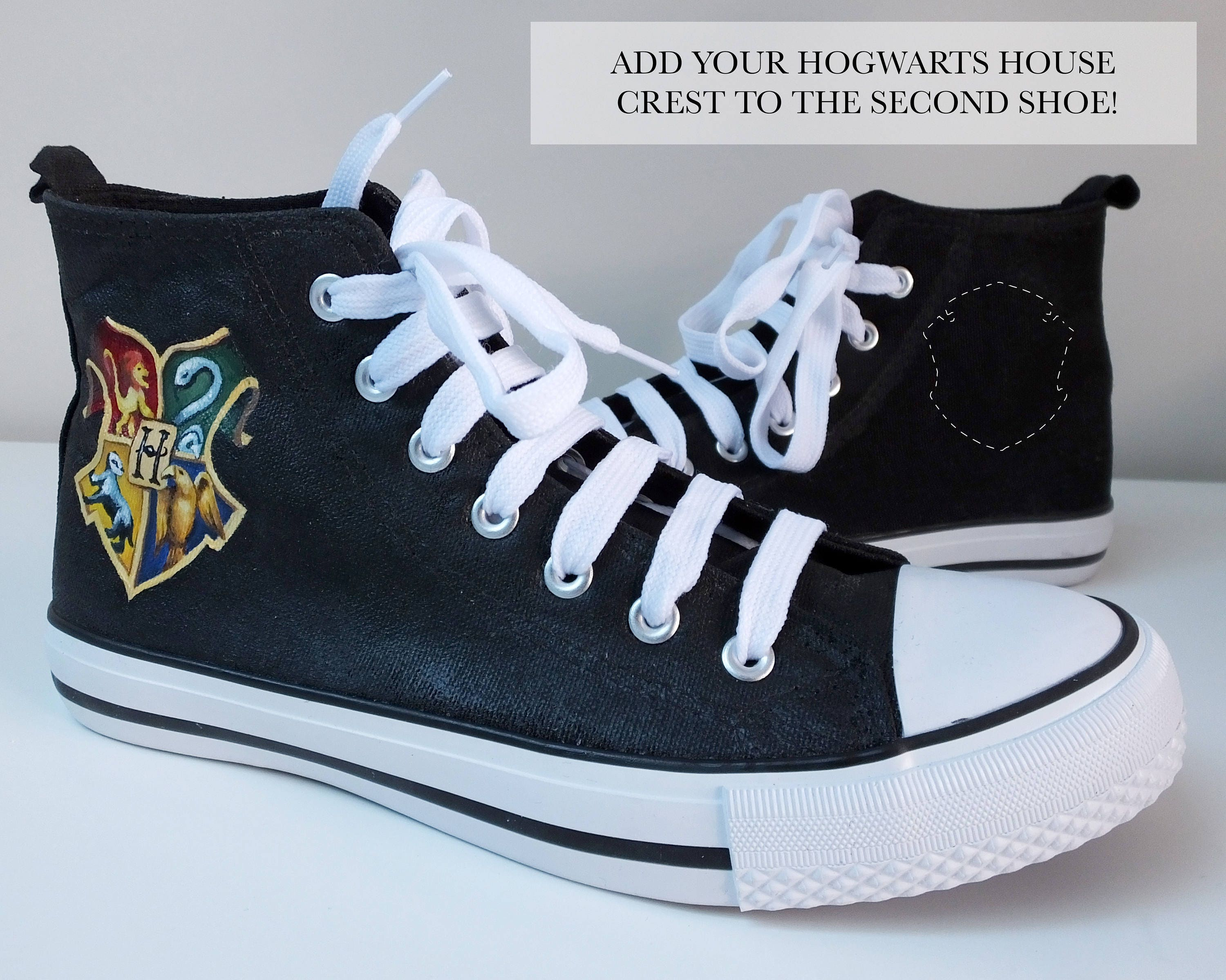 Harry Potter Hogwarts HandPainted ConverseStyle Shoes