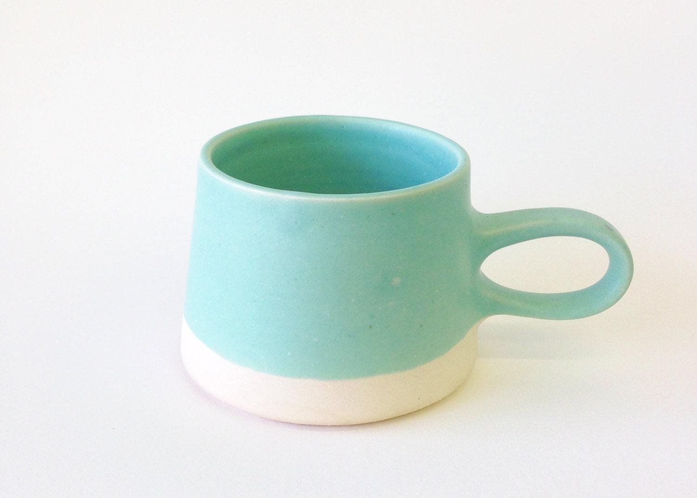 Copenhagen Coffee Mug in Aqua - paperandclaystudio