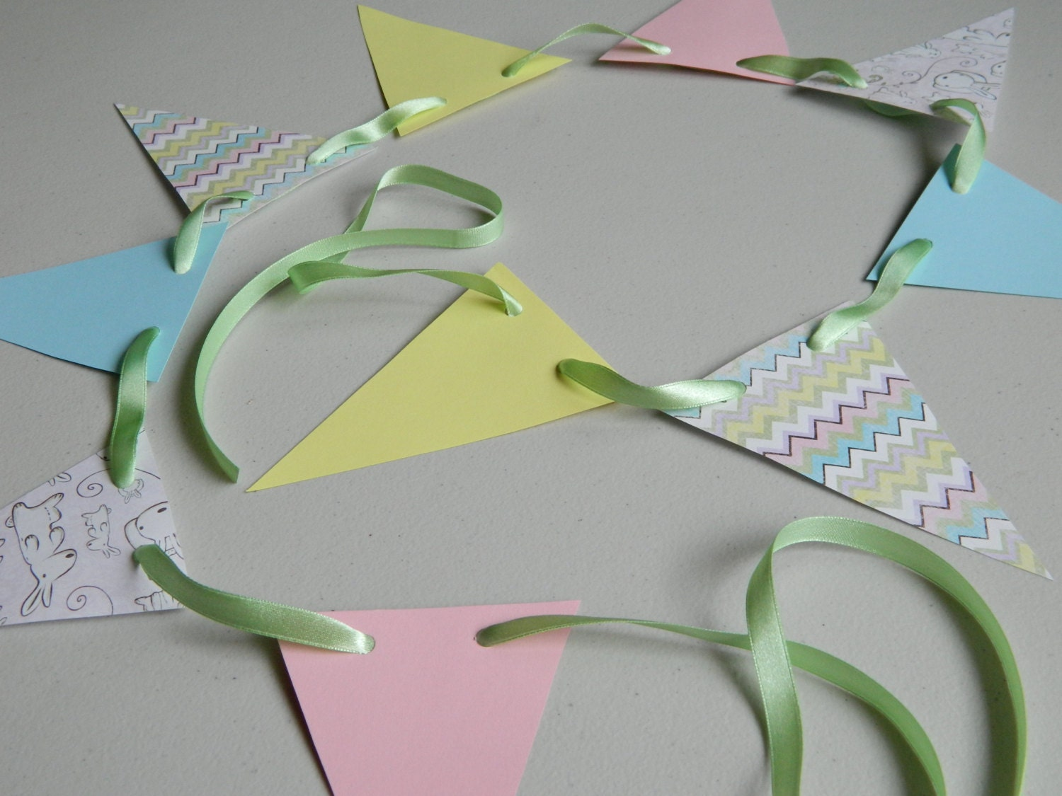 Paper Garland Baby Shower Decor Baby Garland by anyoccasionbanners