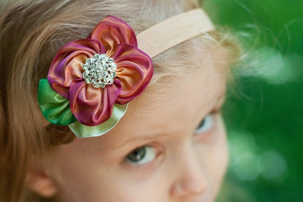 how to make flowers out of ribbon for hair