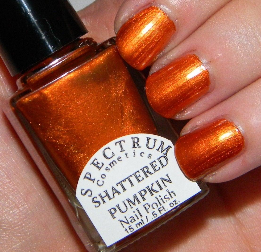SHATTERED PUMPKIN Bold Orange Nail Polish By SpectrumCosmetic