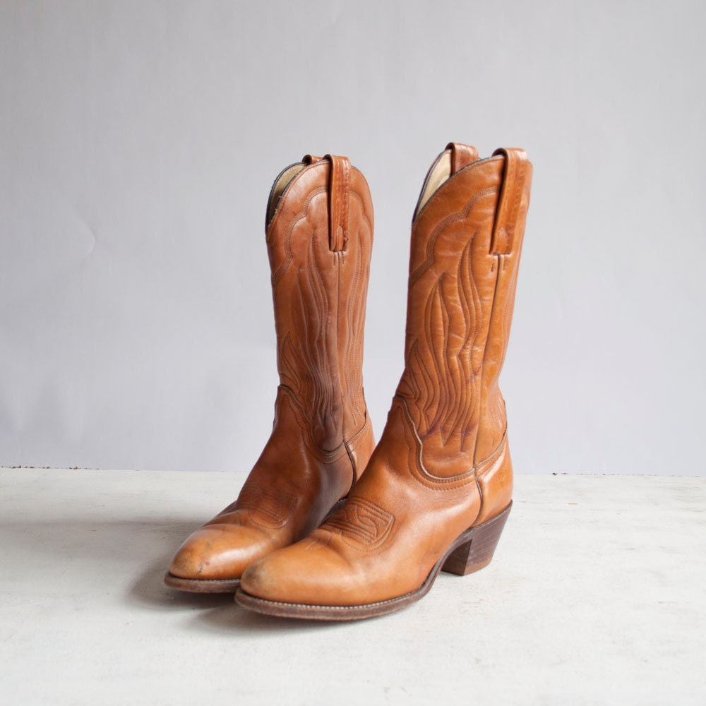 Vintage Frye Boots / Western Boots / Caramel by GingerRootVintage from etsy.com