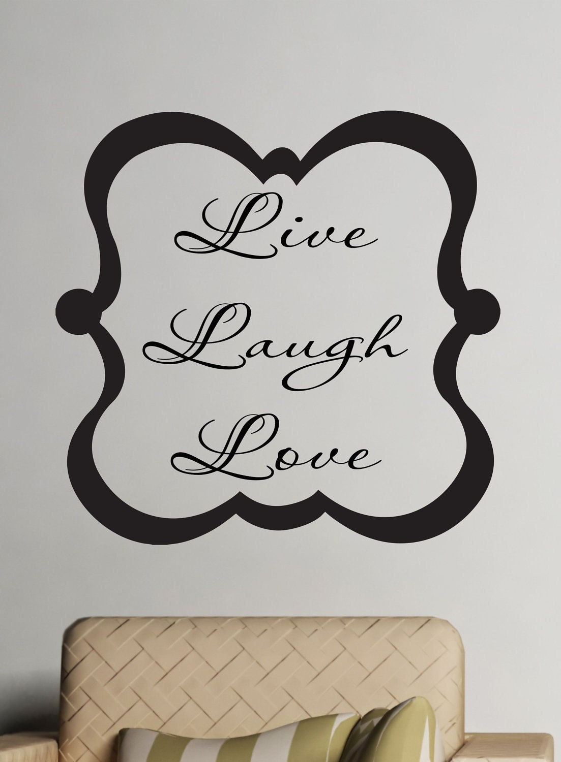 Live Laugh Love Wall Vinyl Decal Family Wall Art by LucyLews