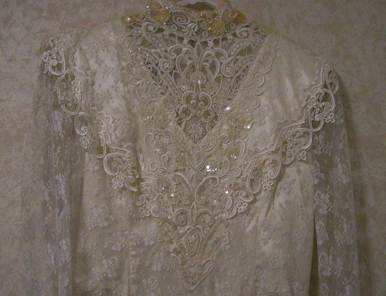 Vintage Jessica McClintock Wedding Dress Bridal by