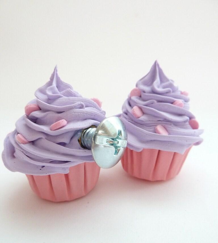 Knobs Fake Cupcake Kitchen Knobs Set Of 2 Cabinet By Shimrita