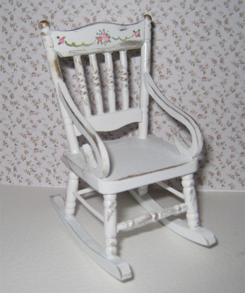 Shabby chic rocking chair lightly by insomesmallwayminis