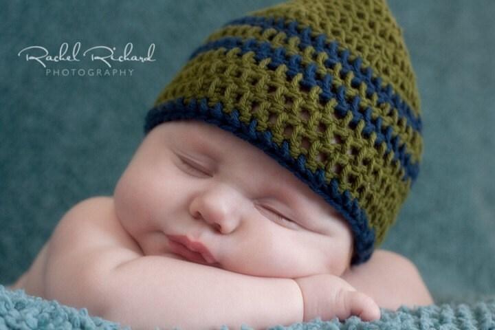 Crochet Baby Hat Pattern Double Crochet : Items similar to PATTERN crochet Basic Double Crochet Hat ...