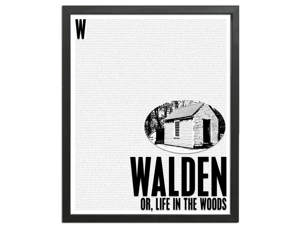 walden or life in the woods by henry david by foliocreations. Black Bedroom Furniture Sets. Home Design Ideas