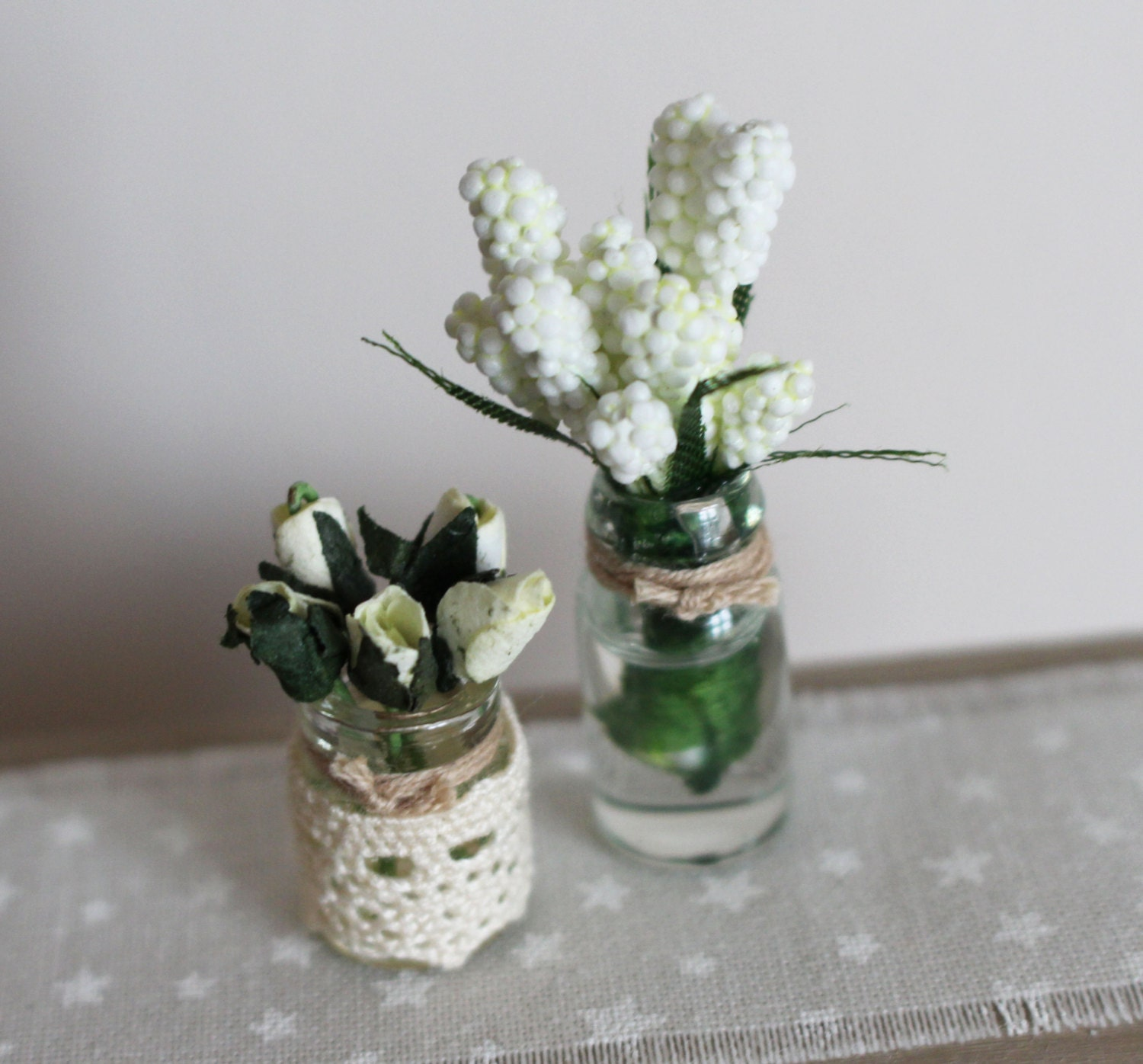 Dolls House Miniature Flowers in Vase