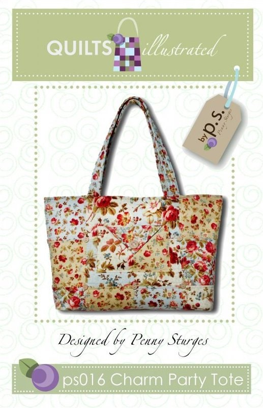 tote bag pattern charm tote by quilts by lacyslittleacre