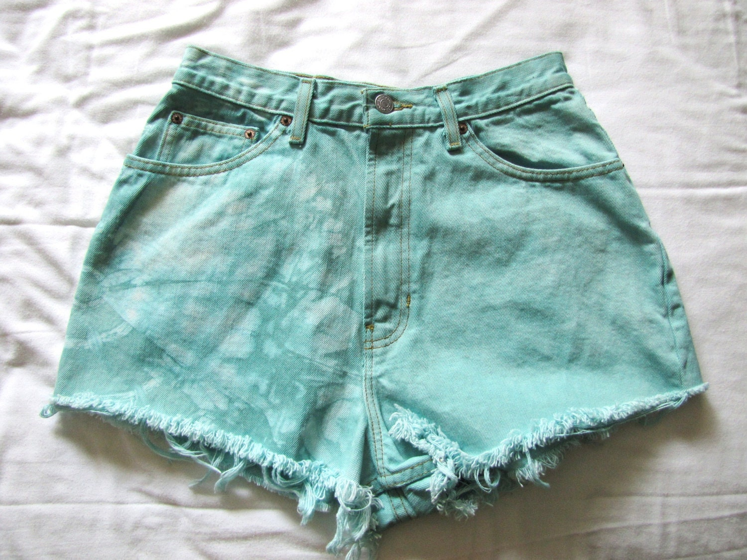 items similar to tie dyed high waisted shorts on etsy