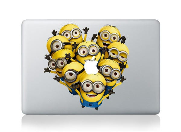 Macbook 13 inch decal sticker group of Despicable Me Minion art for Apple Laptop
