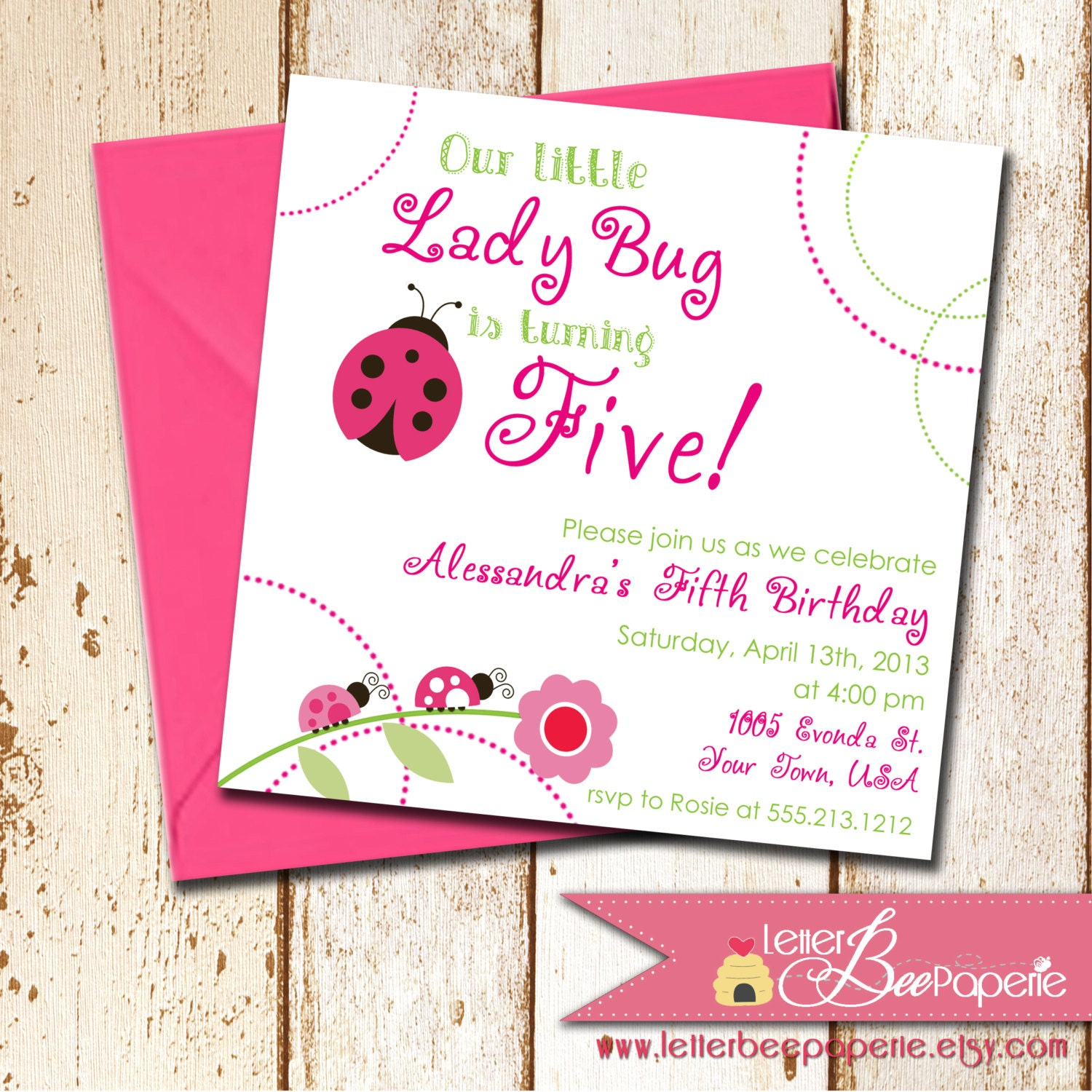 Little Ladybug Girl's Birthday Party By LetterBeePaperie