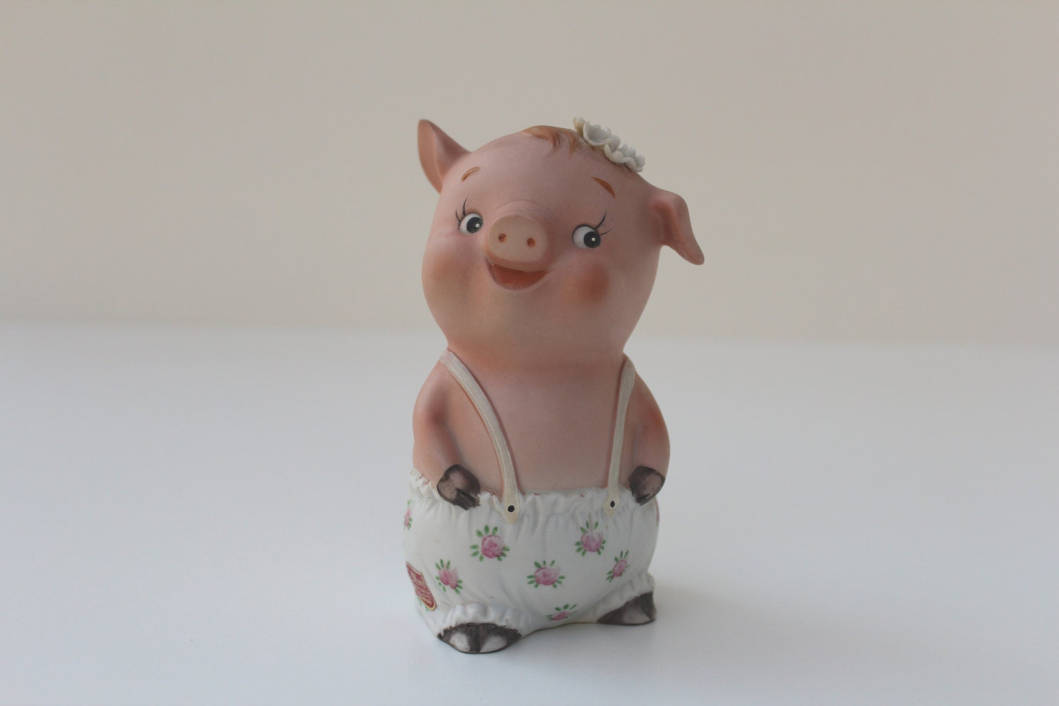 Vintage Lefton China Bisque Piggy Bank Kw2729 By