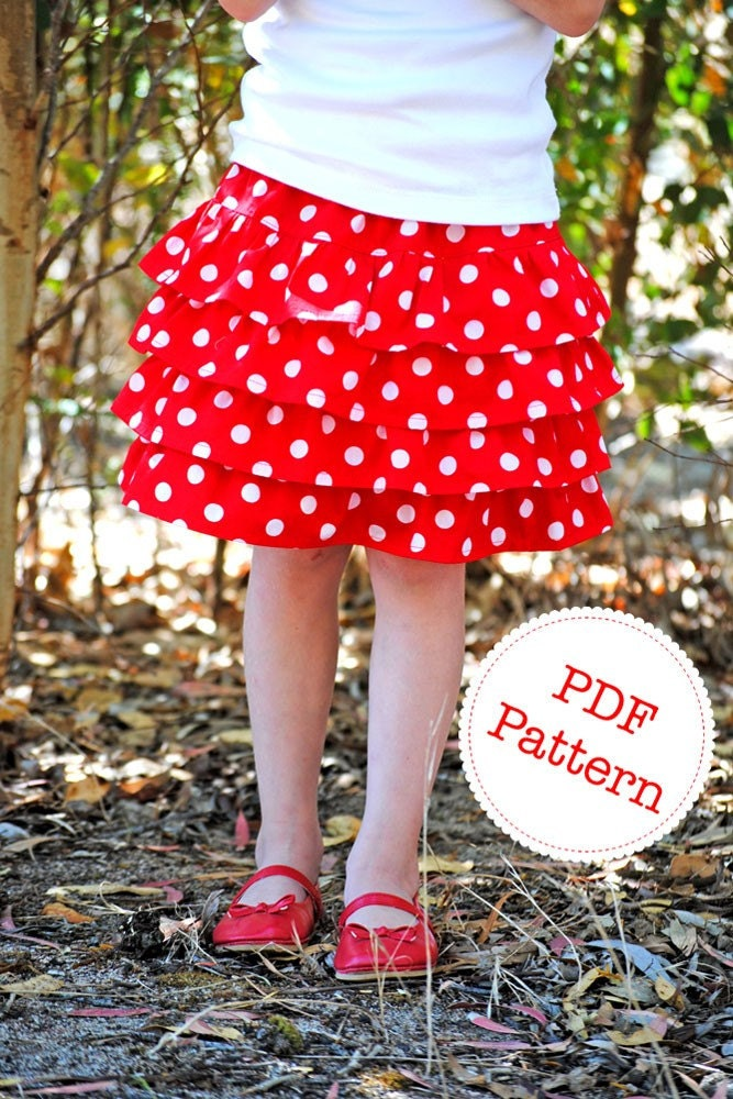 Ruffle Skirt Pattern. PDF Sewing Pattern and by ... Ruffle Designs