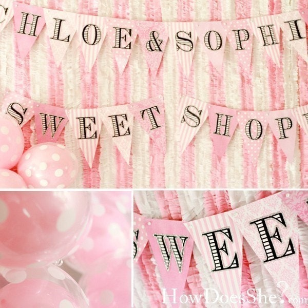 DIY Sweet Shoppe Birthday Banner Kit