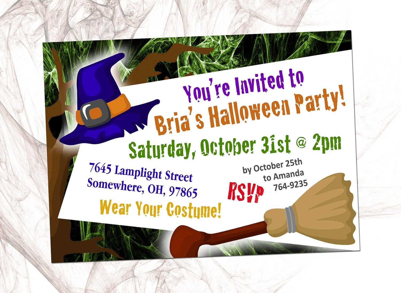 Printable Halloween Party Invite (Halwn Inv 115)