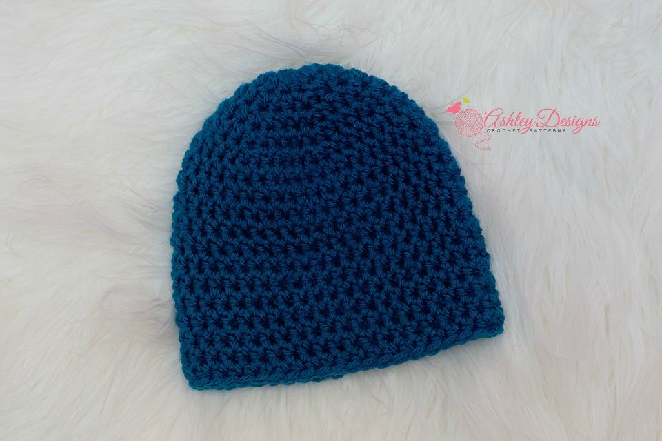 Crochet Beanie Pattern Basic : Crochet Pattern Basic Beanie PDF Instant by ...