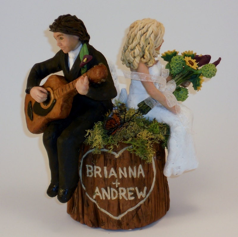 Items Similar To Small Wide Custom Personalized Tree Stump Wedding Cake Topper Keepsake Example