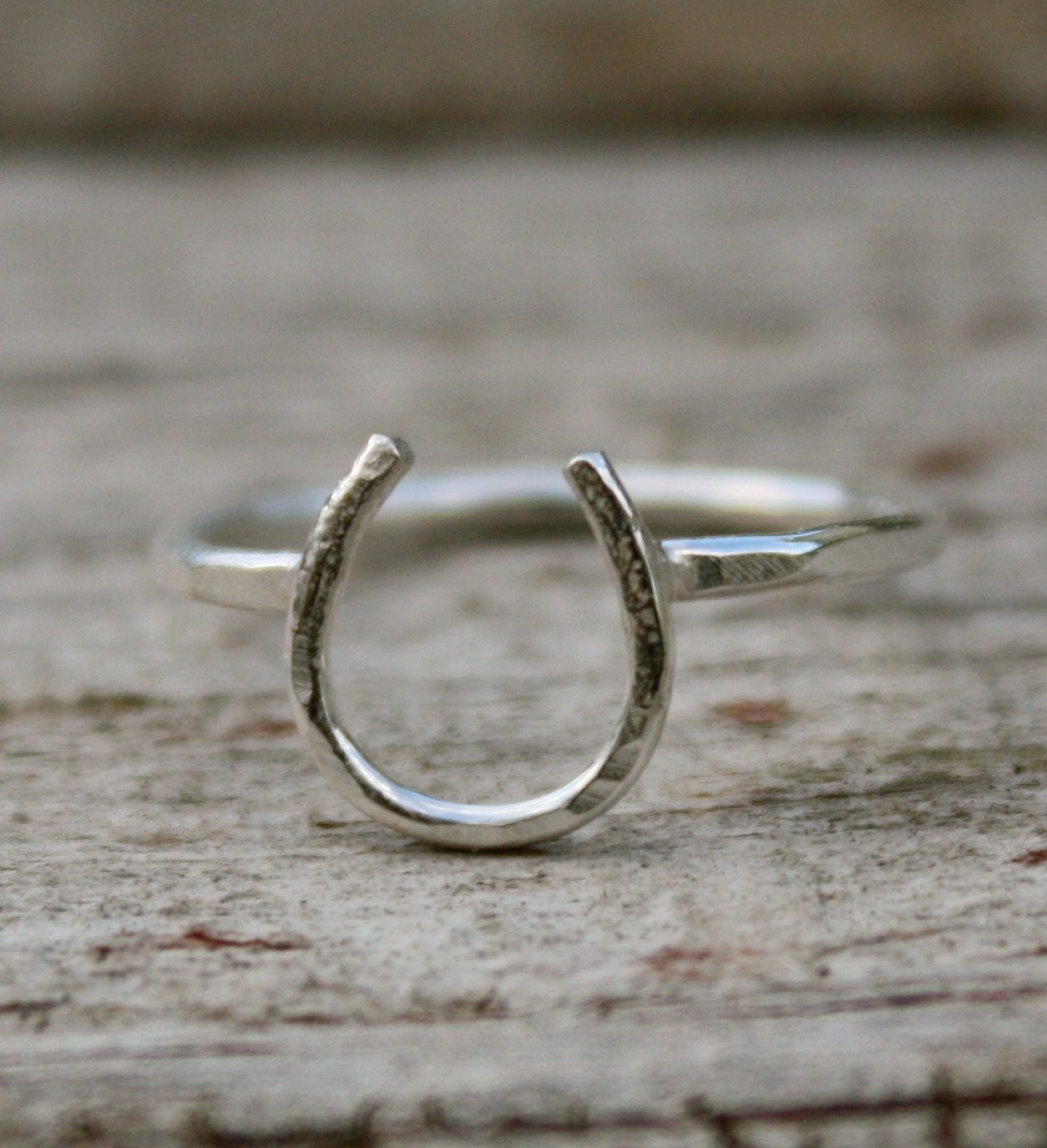 lucky horseshoe ring in all sterling silver by