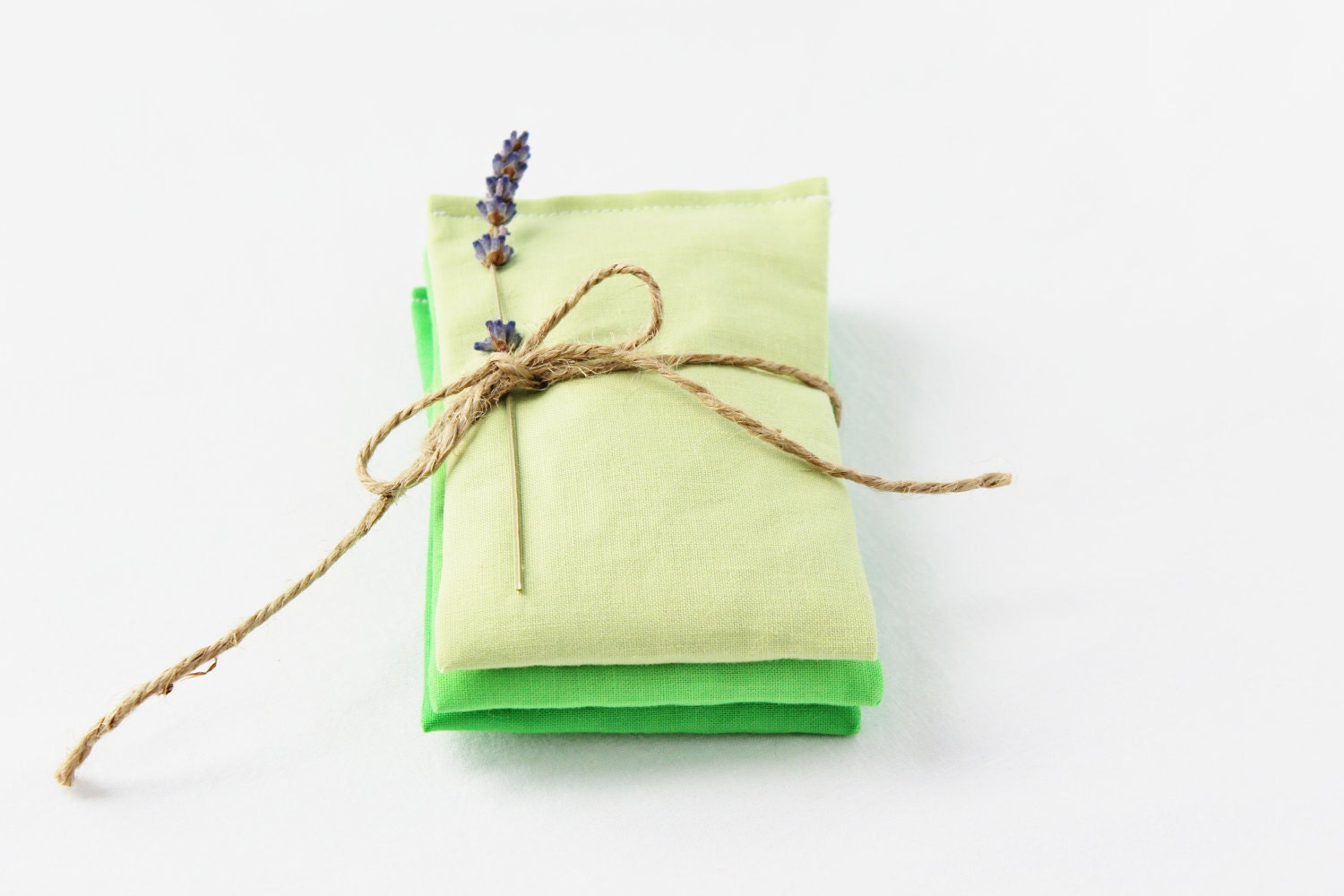 Lavender Sachets, Green Ombre, Apple, Minimalist, Bridesmaid Gift, Set of 3
