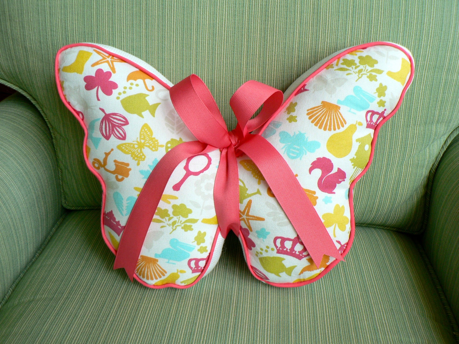 Items Similar To Butterfly Pillow Pastels And White On Etsy