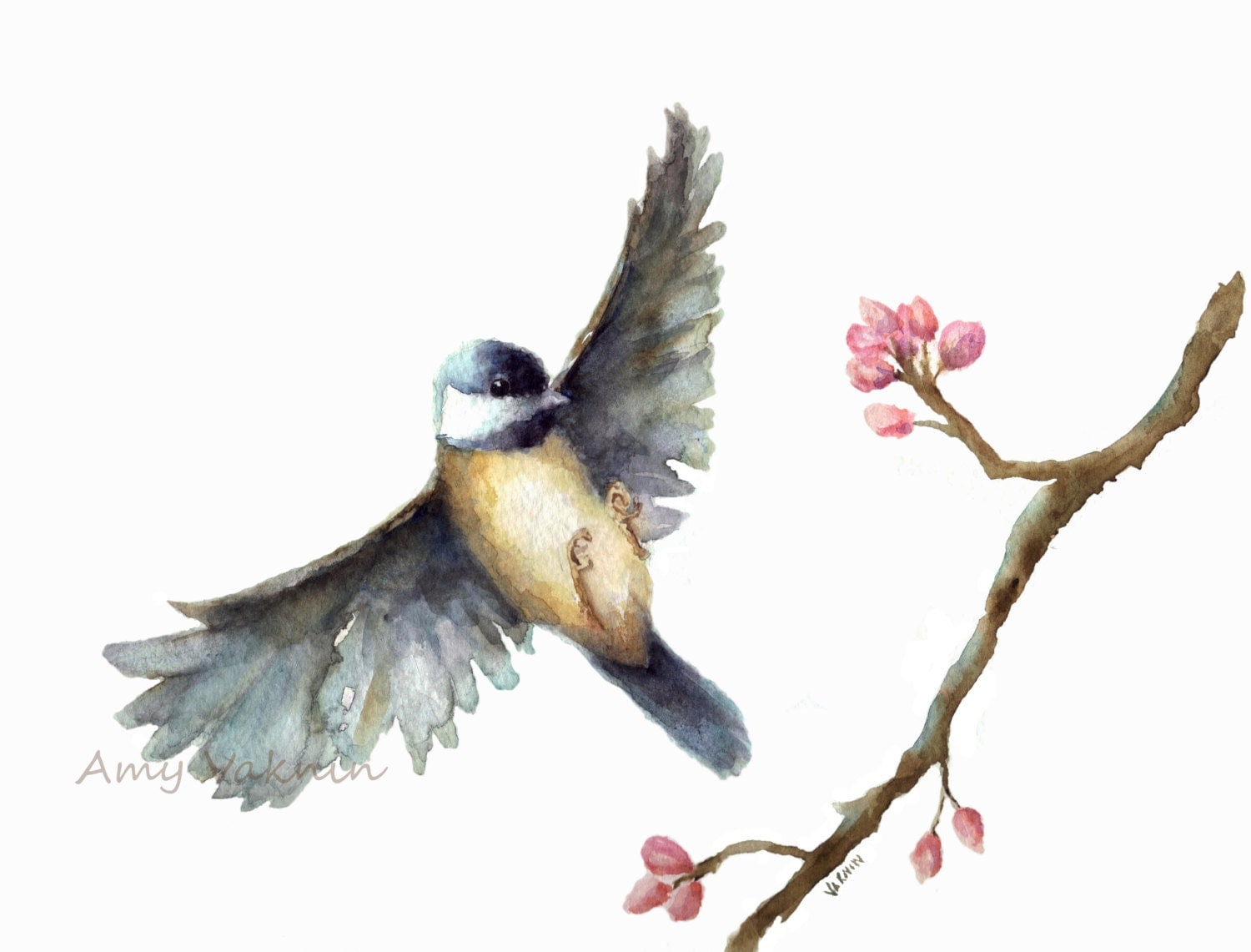Request a custom order and have something made just for you Watercolor Flying Bird Tattoo