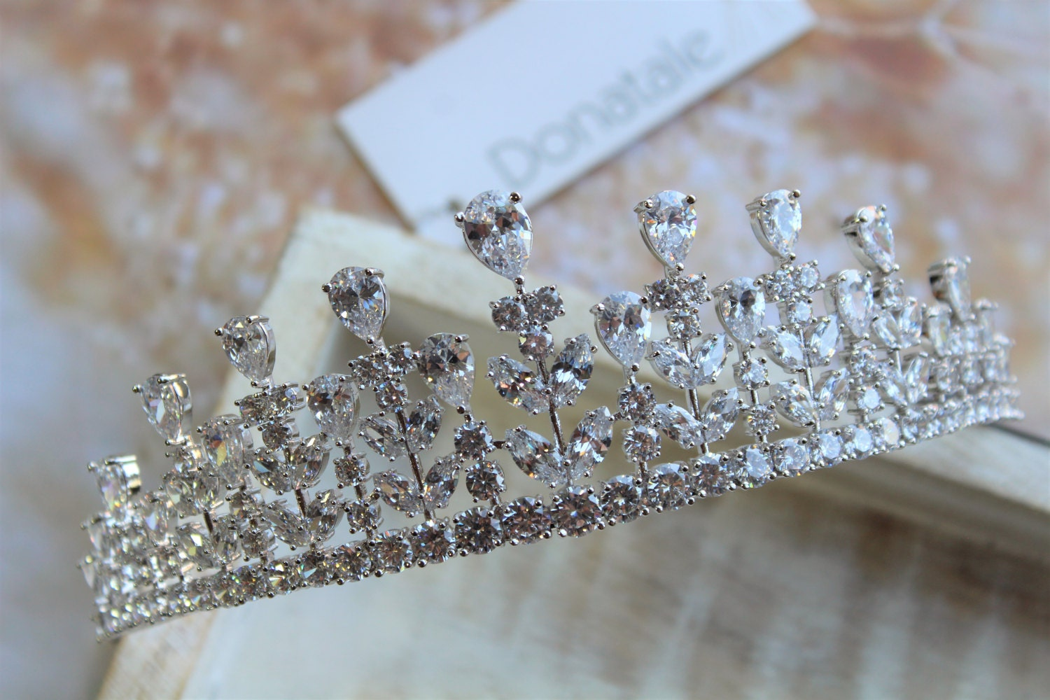 Bridal Tiara Wedding hair piece  Wedding TiaraCrystal Crown  Wedding Hairpiece  Bridal headpiece Rhinestone Tiara  Diamante Crown
