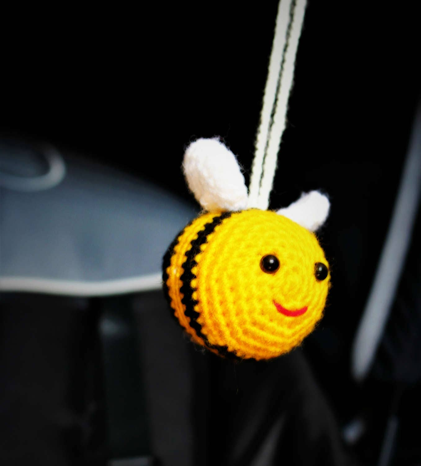 Bumble Bee Pram Toy  Toy Car Seat  Play Gym Toy  Crochet Bees Toy  Stroller Mobile  Pram Toy rattle baby toy