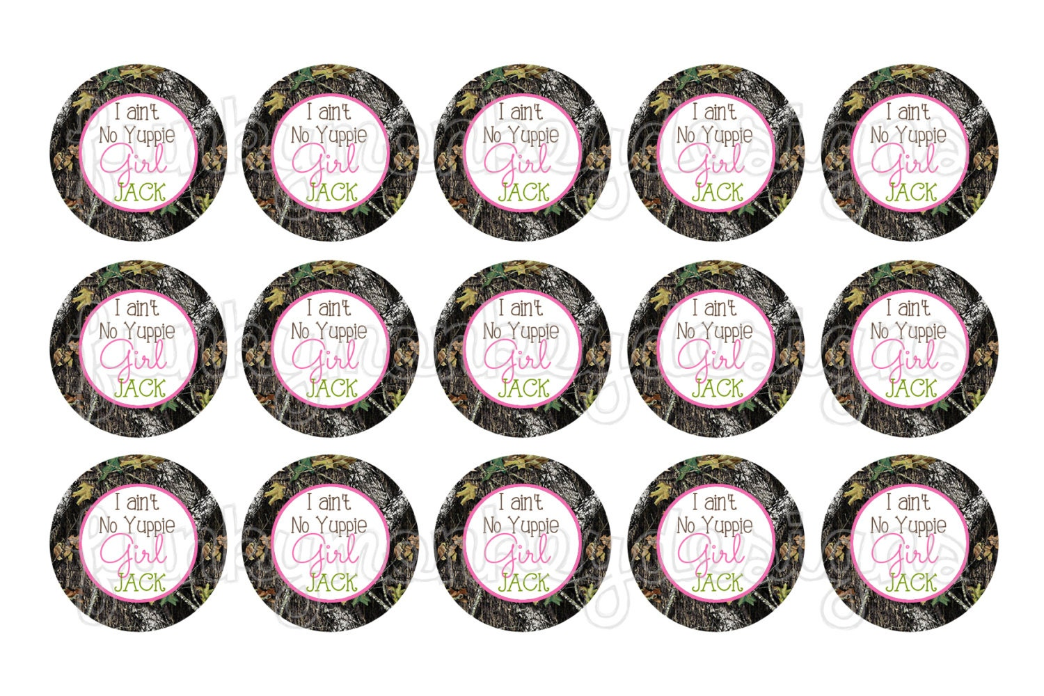 """INSTANT DOWNLOAD ~Pink Camo Duck Dynasty~ """"I Ain't No Yuppie Girl Jack"""