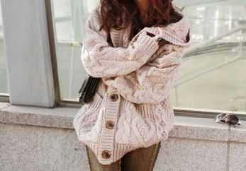 Hoodie sweater / Batwing-sleeved blouse / comfortable cardigan - LCfashion1980