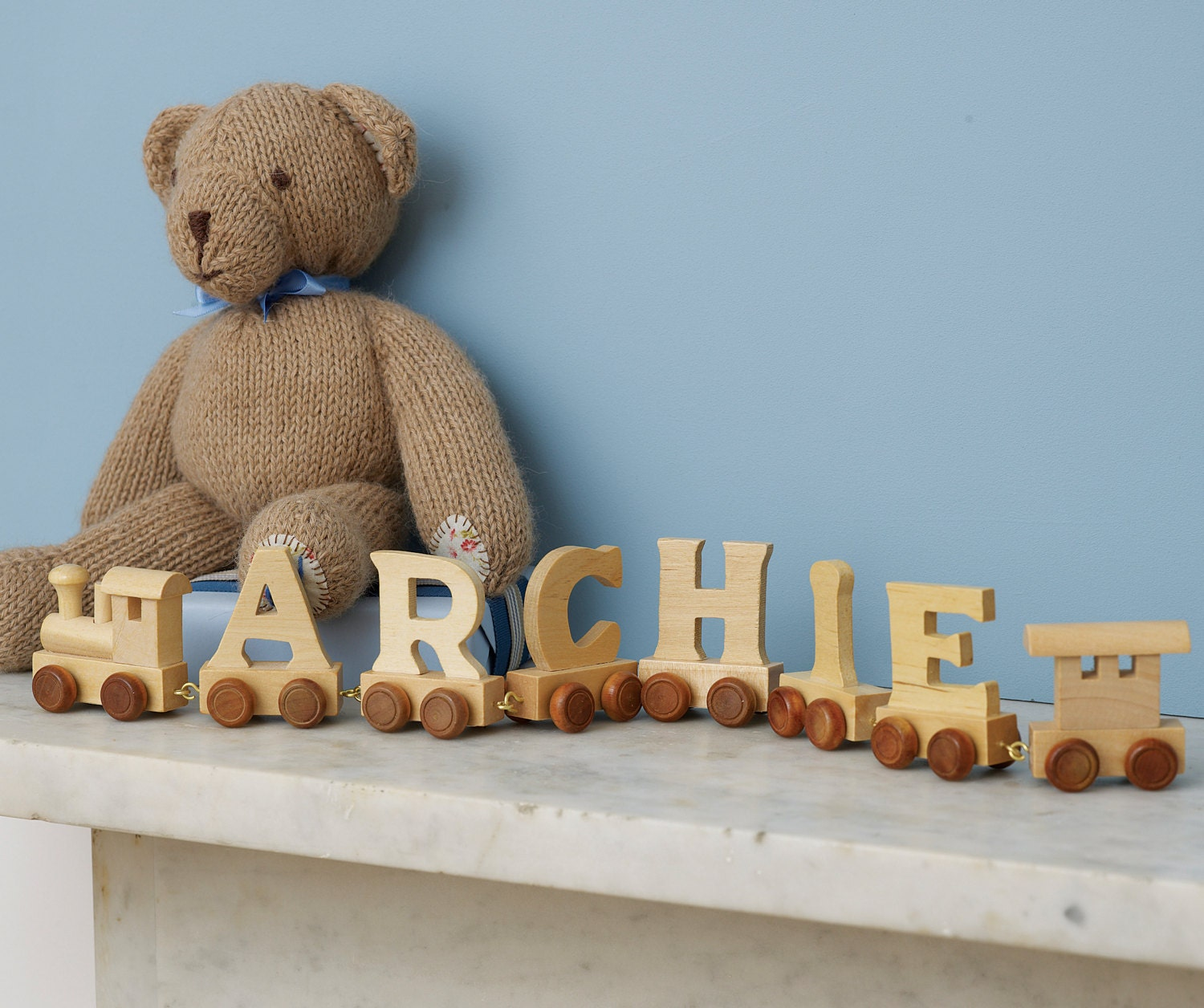 Personalised Wooden Name Train Name Train Wooden Name Train Wooden Train Baby Name Train