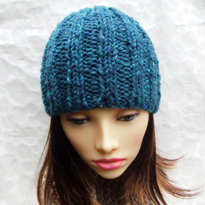 Easy BEANIE HAT PATTERN Rustico Extra Chunky Thick Ribbed ...