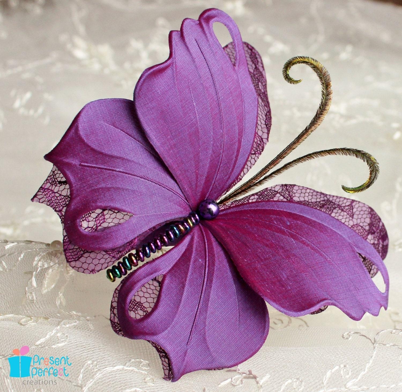 Декоративная бабочка из ткани своими руками