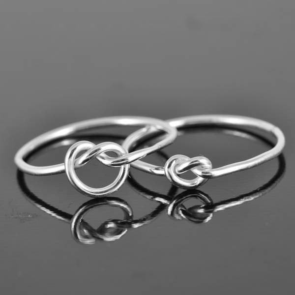infinity ring sterling silver ring best friend ring by