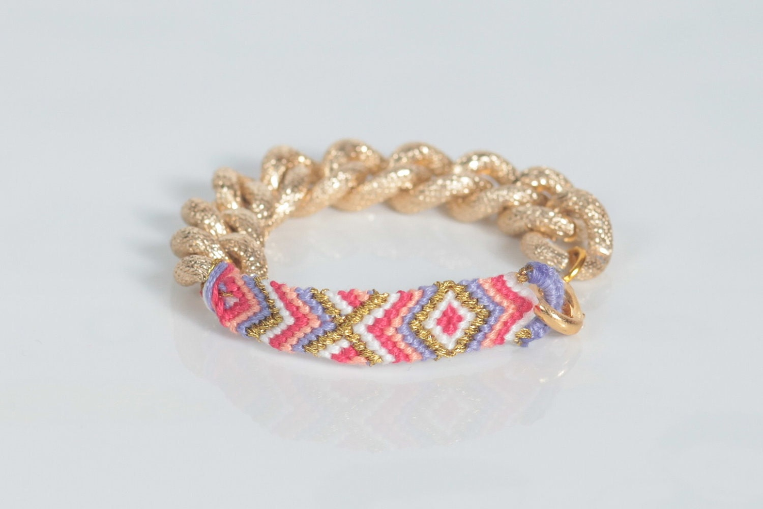 Summer Love Friendship Bracelet - Gold Chain