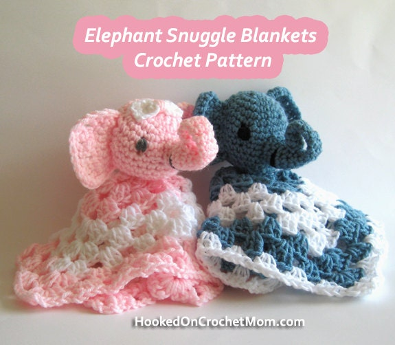 Crochet Elephant Blanket : Amigurumi Elephant Blanket Crochet Crocheted Pattern Snuggle Security ...