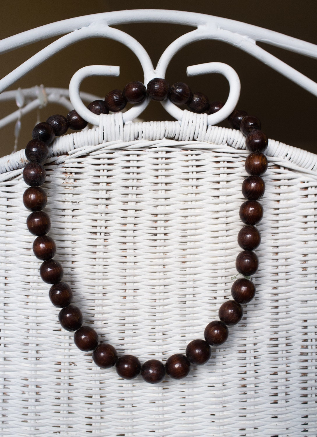 1960's big bead wood necklace. 25% OFF // African wood // Ethnic - VintageVanillaShop