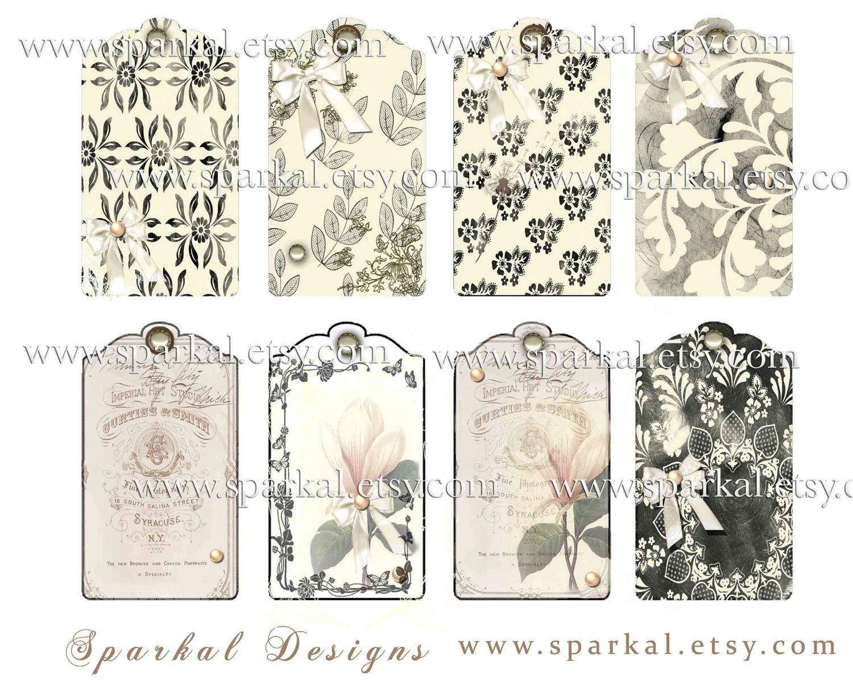 Wedding Gift Tags To Print : Digital Wedding Gift Tags Wedding Hang Tags Using Ephemera Printable ...