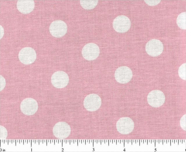 light pink and white polka dot cotton fabric by fabricsbydad. Black Bedroom Furniture Sets. Home Design Ideas