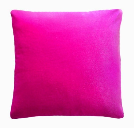 Fuschia Velvet Throw Pillows : Items similar to Dark PINK / Fuschia VELVET PILLOW, Standard size 16 x 16, New on Etsy