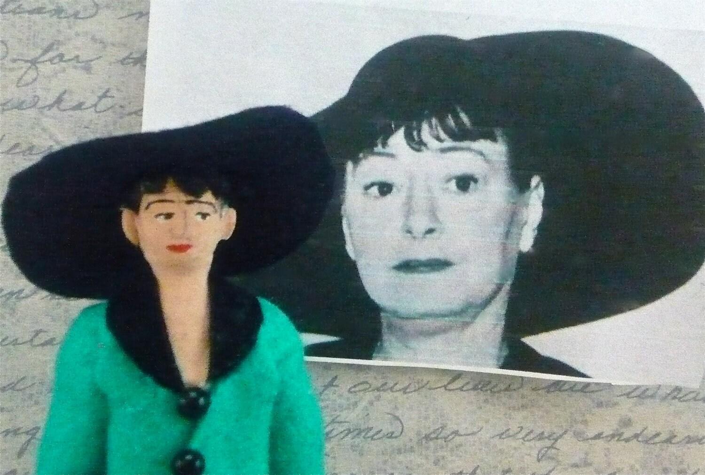 Dorothy Parker Writer Doll Miniature Satire Humorist