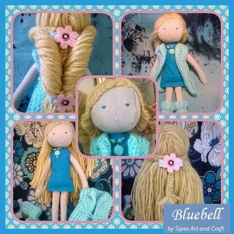 Handmade doll Bluebell