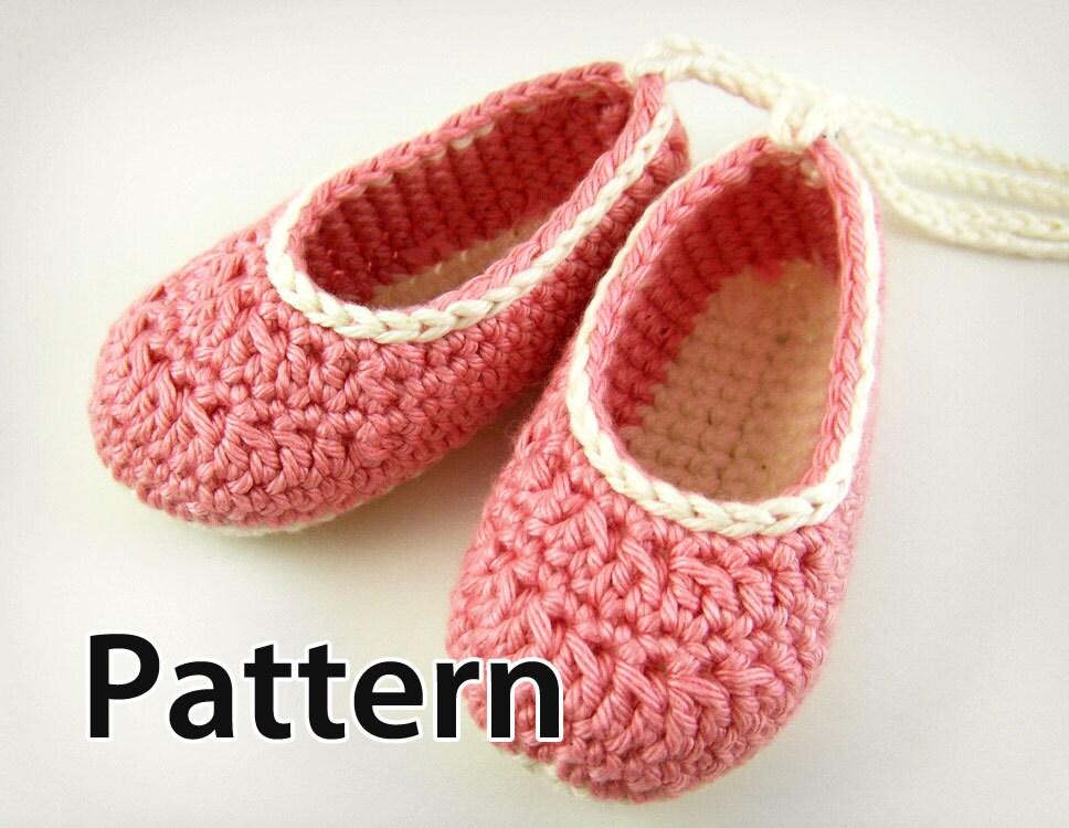 Pattern Crochet Baby Booties Baby Ballet Flats By Jennozkan Free