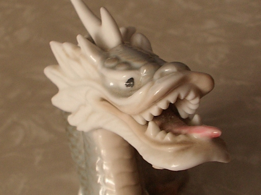 Japanese Porcelain Dragon Figurine By Shoponsherman On Etsy