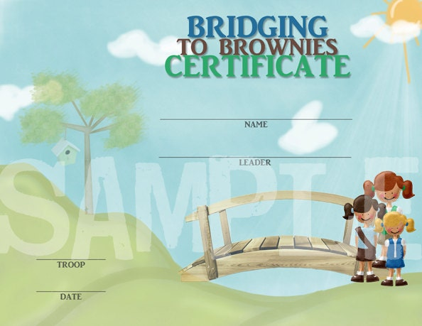Girl Scout Daisy Bridging Certificate Printable Free