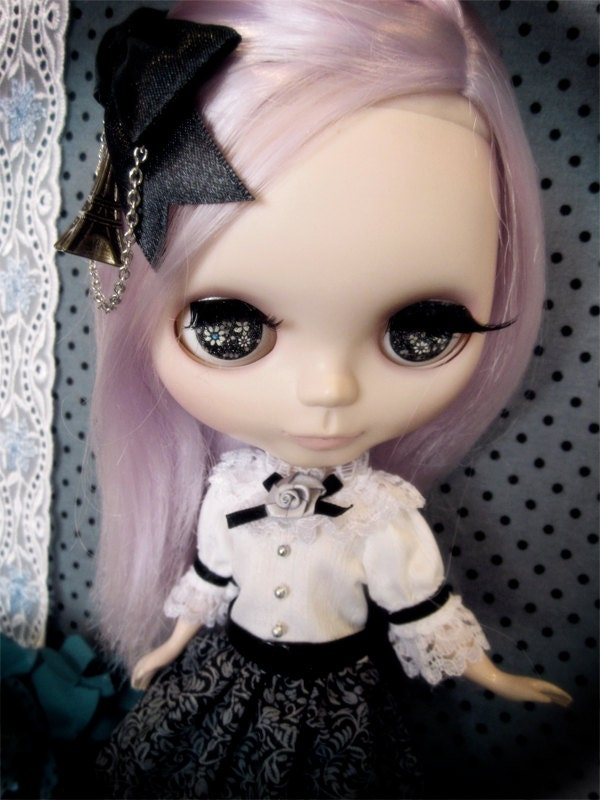 Blythe / Pullip mystery Paris Black Boutique sissy maid dress Outfit - BlytheBerryGirl