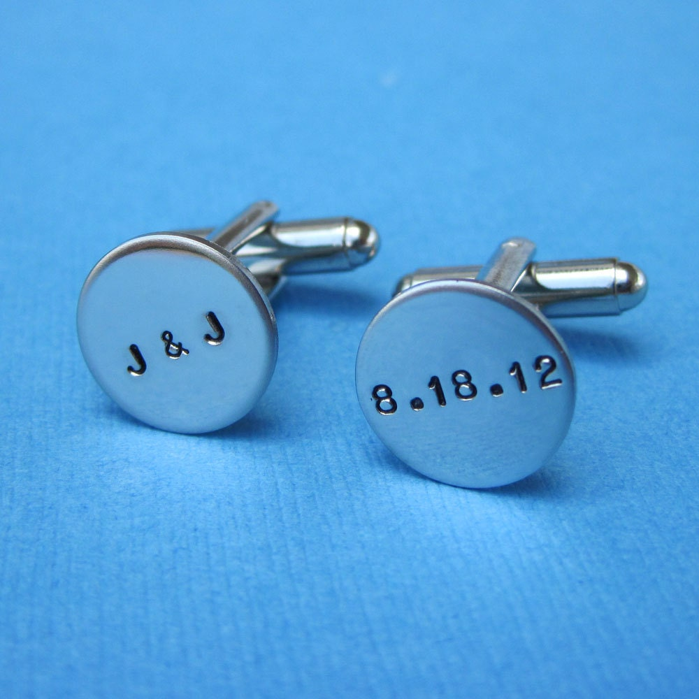 Custom Cuff Links - Personalized Wedding Grooms Gift Best Mans ...