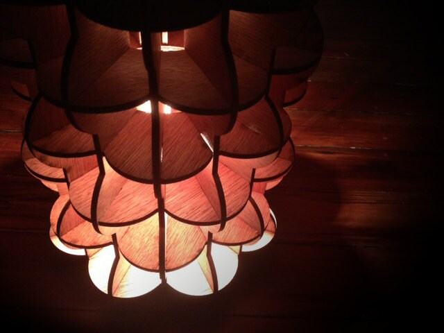This unique, handmade wooden lamp could be a great addition to your home decor. - Savytrade